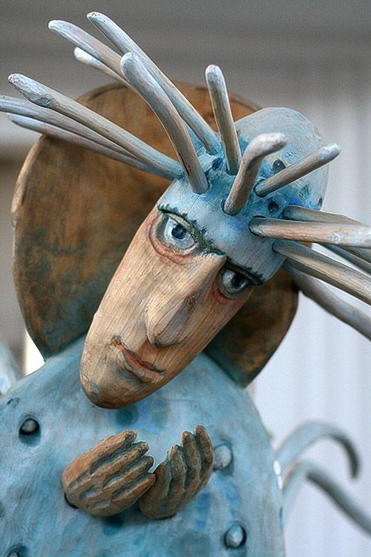 Wooden sculpture - Katowice, Poland