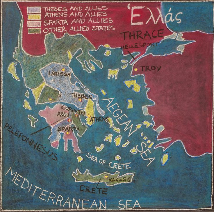 5th Grade: Ancient History and Mythology; Greece: Map