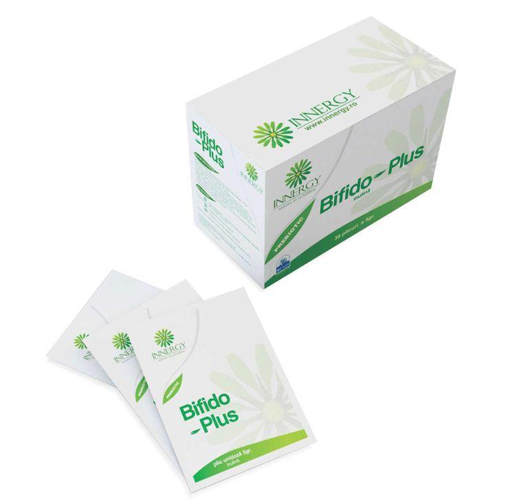 Bifido Plus® este un prebiotic din clasa fructanilor.    Administrarea unui plic de Bifido Plus® (5 grame inulina ) zilnic, pe o perioada de minim 4 saptamani, conduce la o crestere substantiala a numarului bacteriilor zaharolitice in colon. Echilibrarea microbiomului gastrointestinal prin sustinerea florei intestinale zaharolitice endogene, determina imbunatatirea functiilor sistemului digestiv, precum si cresterea rezistentei intestinului la colonizarea cu bacterii patogene.