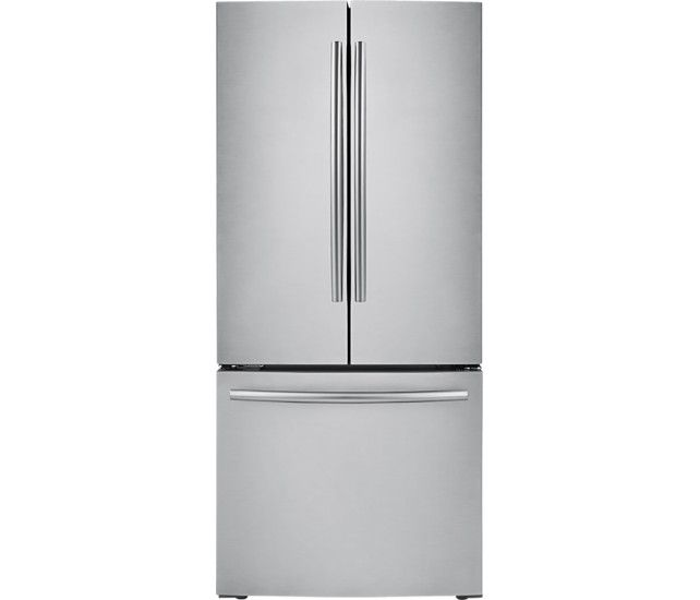 Samsung - 21.6 Cu. Ft. French-Door Refrigerator - Stainless Steel - Front Zoom