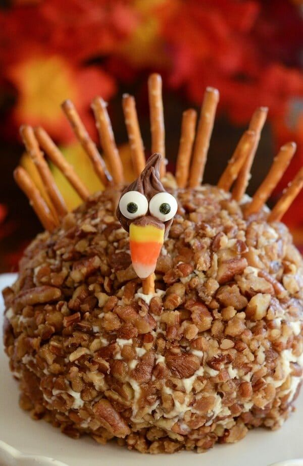 Gobble Gobble! That's right, I made y'all a Turkey Cheese Ball. Inside is a Goat Cheese, Cranberry and Candied Pecan Cheese Ball that you can whip up in just a few minutes. But if you really don't have time, you can also use a store bought cheeseball. Watch the video to see how easy it …
