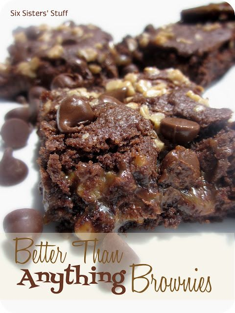 Better than ANYTHING brownies from SixSistersStuff.com.  These are amazing!
