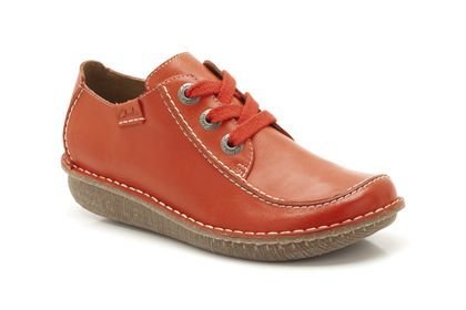 Womens Casual Shoes - Funny Dream in Orange Leather from Clarks shoes £39.99