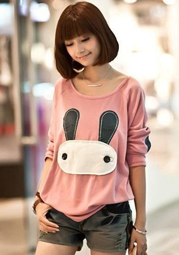 Cute bunny top- ohmegersh!! this is totes adorbs!: