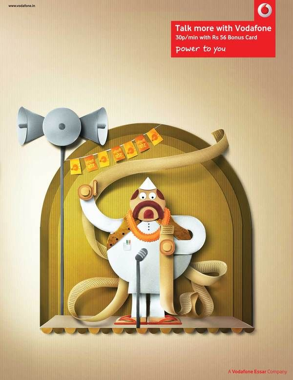 Paper perfect Indian characters - Vodafone by Nasheet Shadani