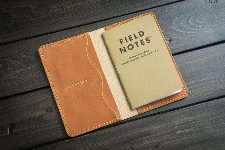 Pilsner Leather Field Notes Cover with Pockets