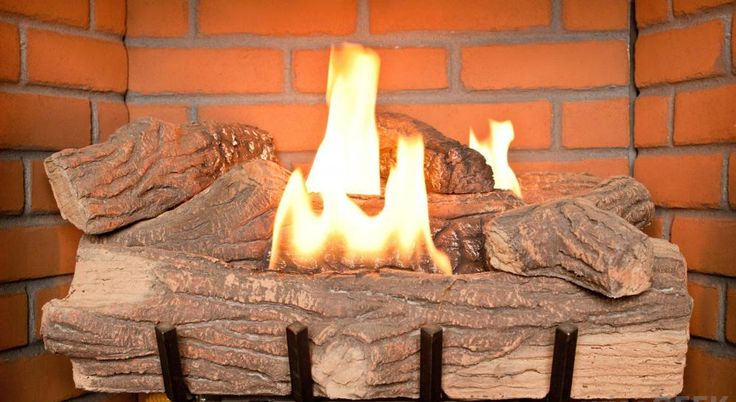 Fake fireplace and Fireplace logs