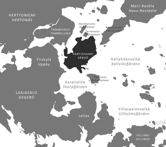 Vartiosaari kartta