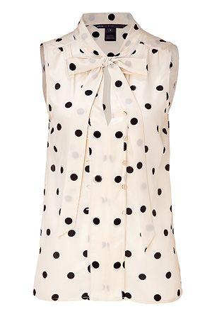 Polka dots for spring. Love!