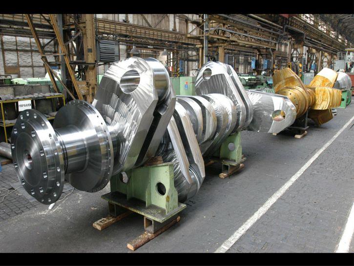 100,000 horsepower diesel crankshaft.