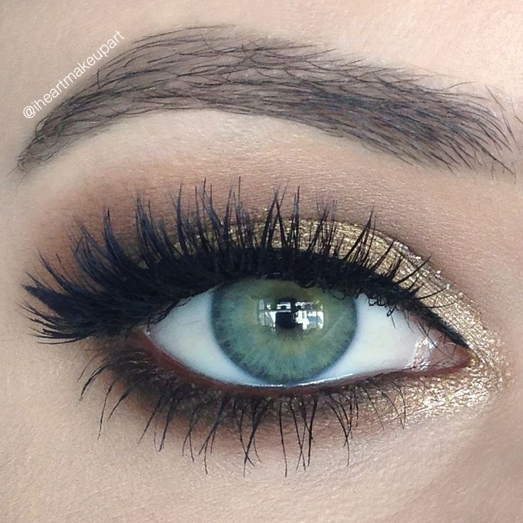 Lovely 'Shimmering Autumn' Idea Gallery look by Iheartmakeupart using Makeup Geek eyeshadows Cocoa Bear, Gold Digger, Latte, Mocha and Peach Smoothie along with Immortal gel liner and Afterglow pigment! Beautiful look! Click to see more!