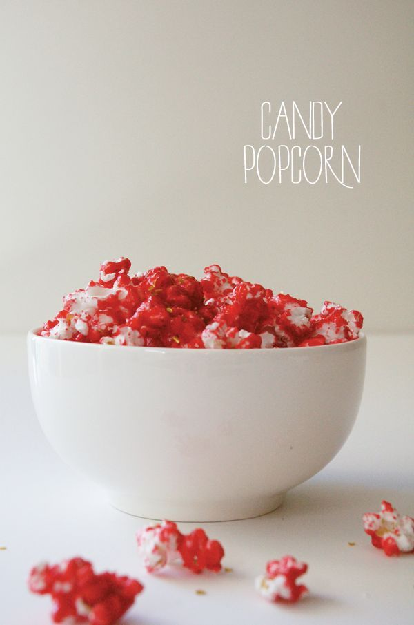 Candy Popcorn recipe using Jello for flavoring. It's kind of amazing. Cherry is my favorite flavor!