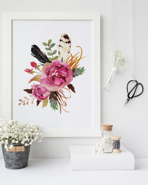 Best 25+ Floral wall art ideas on Pinterest   Flower wall ...
