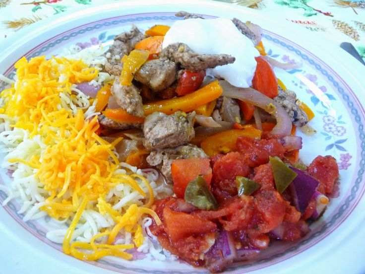 CHICKEN FAJITAS   This is an awesome recipe – the chicken is so flavorful. Lovely served with guacamole, grated cheese, homemade s...