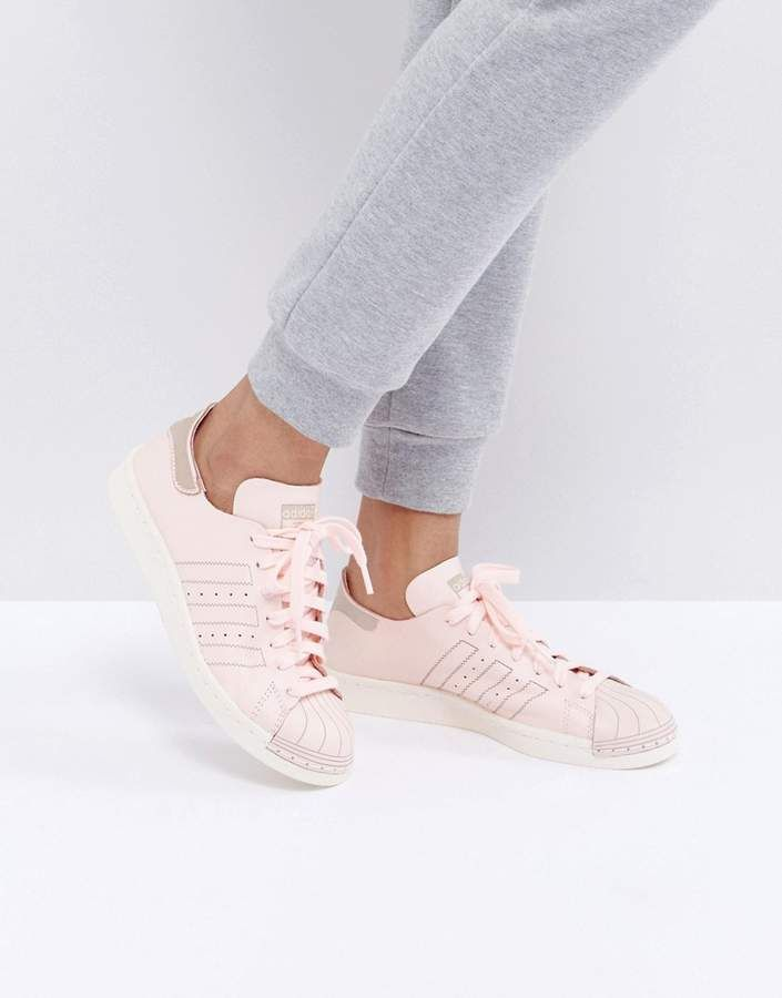 online store b9e9f 2ec86 adidas Originals Pink Leather Deconstructed Superstar 80S Sneaker  asos   superstar  pink  adidas  ad  shopstyle  myshopstylecollective
