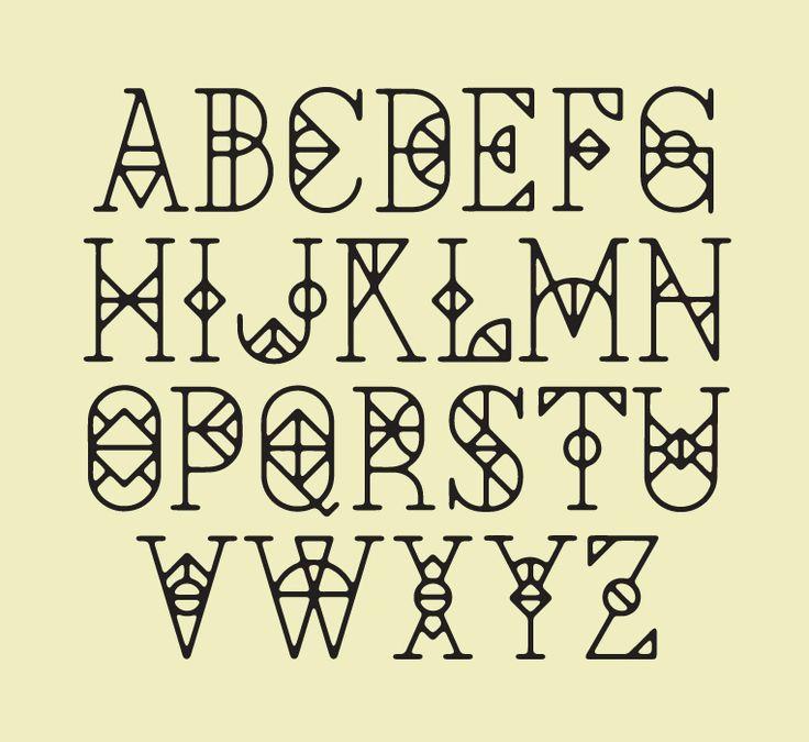 Sierlijke letters