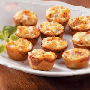 Mini Sausage Quiches Recipe - easy because they're made with crescent rolls!