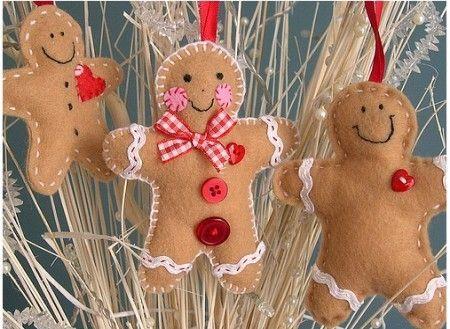 Lavoretti di Natale in pannolenci, pupazzetti
