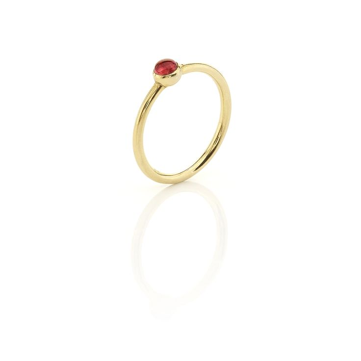 Yellow gold ring with #pink #tourmaline www.huffyjewels.com