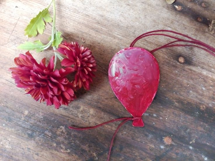 Handmade Balloon necklace,  Painted Balloon necklace, Handpaint necklace, Art Balloon necklace, Painted Balloon Pendant, Balloon Pendant by AnKaArts on Etsy