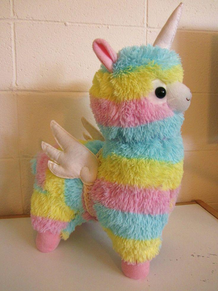 Unicorn/Alicorn Alpaca with wings Rainbow coloured Alpaca Lama Thingy Plush