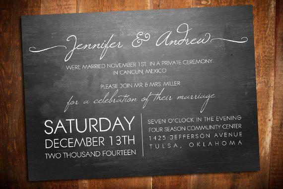 Wedding Reception Invitation Wording Ideas: Best 25+ Elopement Reception Ideas On Pinterest