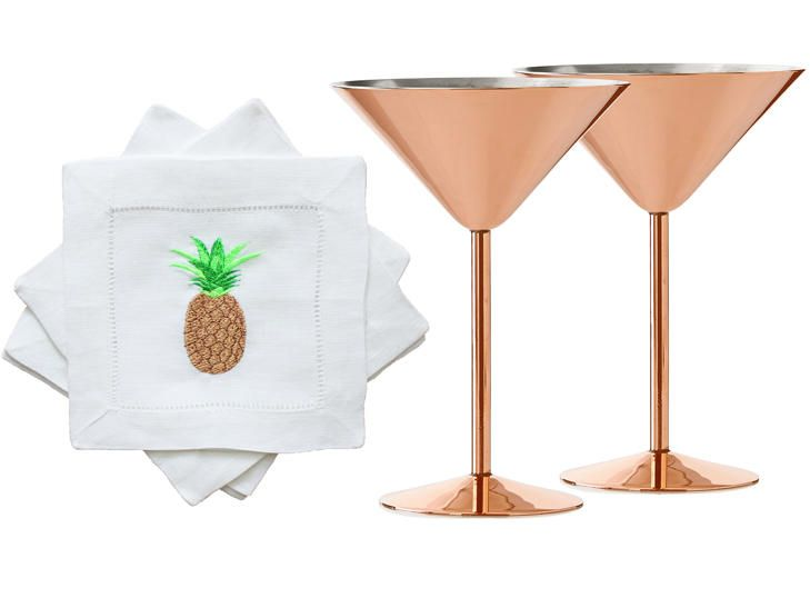 Drinking Buddies: 6 Perfect Cocktail Glass and Napkin Combos | TheKnot.com