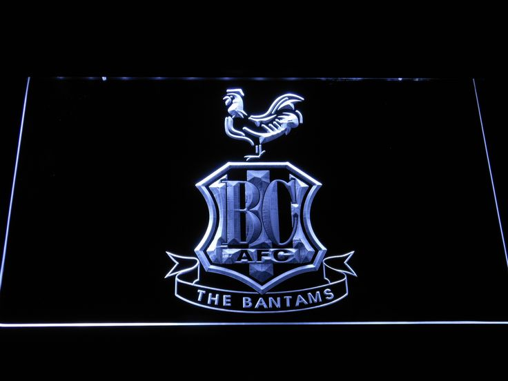 Bradford City AFC Crest LED Neon Sign