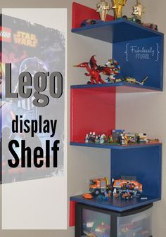 Proudly display your kids' Lego creations with this DIY Lego Display Shelf! Check out this tutorial to get you started!