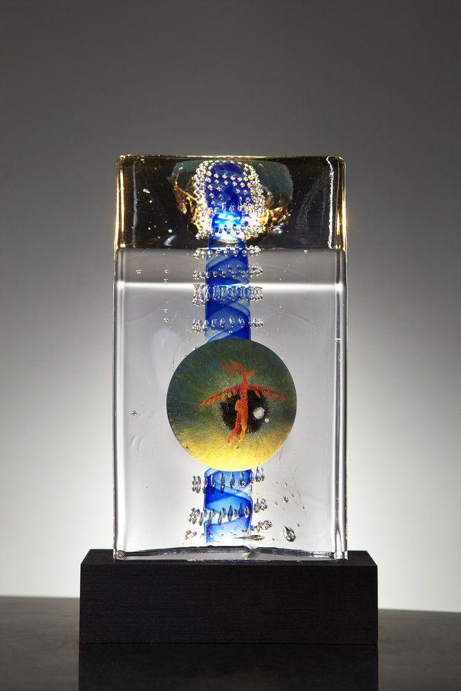 Lock Limited Art Glass, design by Kjell Engman for Kosta Boda