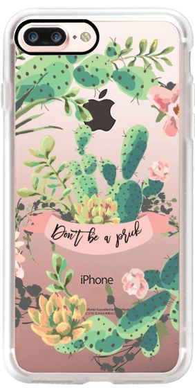 Casetify iPhone 7 Plus Case and other Cactus iPhone Covers – Cactus Garden by Ru…