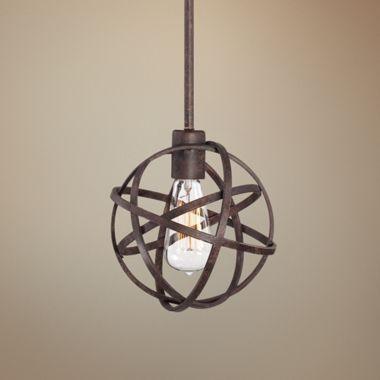 Industrial Atom Edison Bronze Modern Mini Pendant Light
