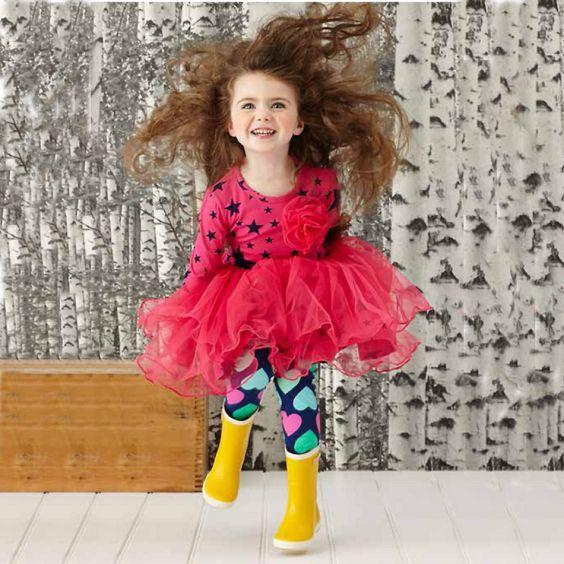 Hootkid Lucky Star Ra Ra Dress - Pink