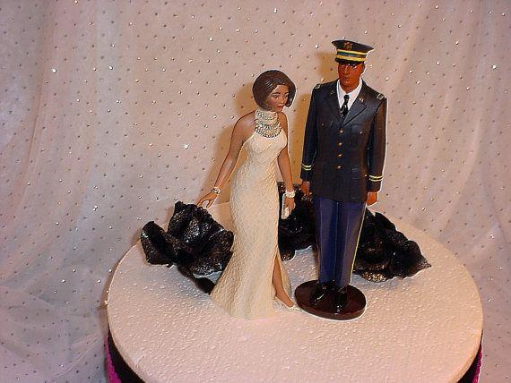 Sweet Love Ivory Dress Bride Army Military Groom by splendorlocity