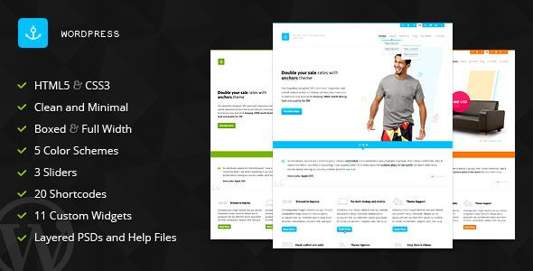 Anchors - Portfolio and Business WordPress Theme   http://themeforest.net/item/anchors-portfolio-and-business-wordpress-theme/3826866?ref=damiamio       Anchors is a clean, elegant and professional theme for individuals, creative agencies and corporate businesses. It comes with 5 pre-defined color schemes and with plenty of page templates showcasing all the design flexibility our theme has to offer such as 3 sliders types (including the dashing OneByOne slider from codecanyon ), optional…
