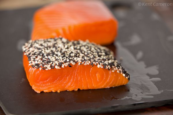 Black and White Sesame Crusted Salmon