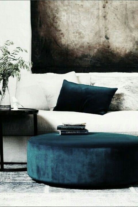 Add velvet pieces to your lounge space in opulent blues and jewel tones that are ideal for the cool weather months.