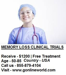 Over 50 with memory loss? You have options. Join research studies today and get paid to participate. Amount varies by study  #Gilbert #Phoenix #Bellflower #CostaMesa #Fullerton #Irvine #LagunaHills #Lomita #NationalCity #Oceanside #Riverside #SantaAna #SantaMonica #Denver #Brooksville #Jacksonville #Maitland #Melbourne #Ocala #OrangeCity #Orlando #OrmondBeach #StPetersburg #Tampa #TheVillages #Chicago #Schaumburg #Wichita #FarmingtonHills #CreveCoeur #OFallon #StPeters #MtArlington…
