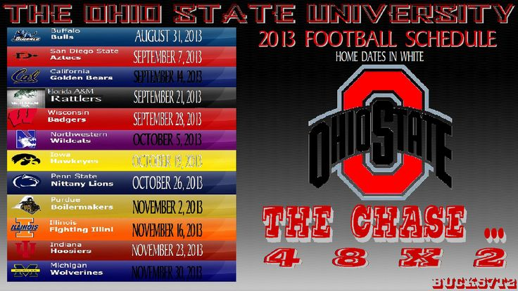 OHIO STATE BUCKEYES FOOTBALL WALLPAPERS | OHIO STATE BUCKEYES 2013 FOOTBALL SCHEDULE - BY-Bucks7T2-Ohio WITH CURRENT ATHLETIC LOGO...