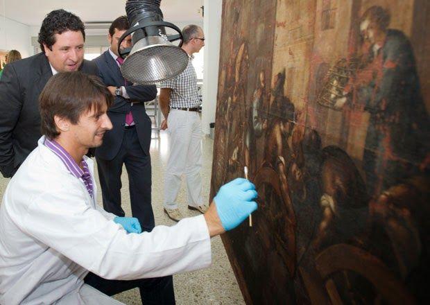 Infopalancia: La Diputación restaura un pergamino y un lienzo de...
