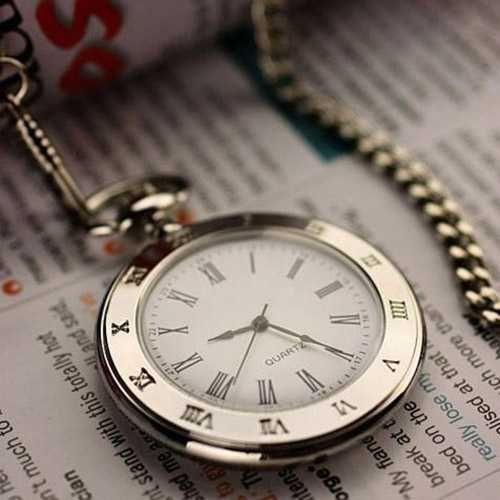 Classic Steel Quartz Pocket Watch (NZD $29.99)      Size: 42mm diameter