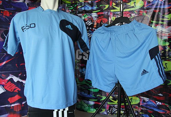 Setelan Kaos Adidas F50 Birumuda Rp 80.000