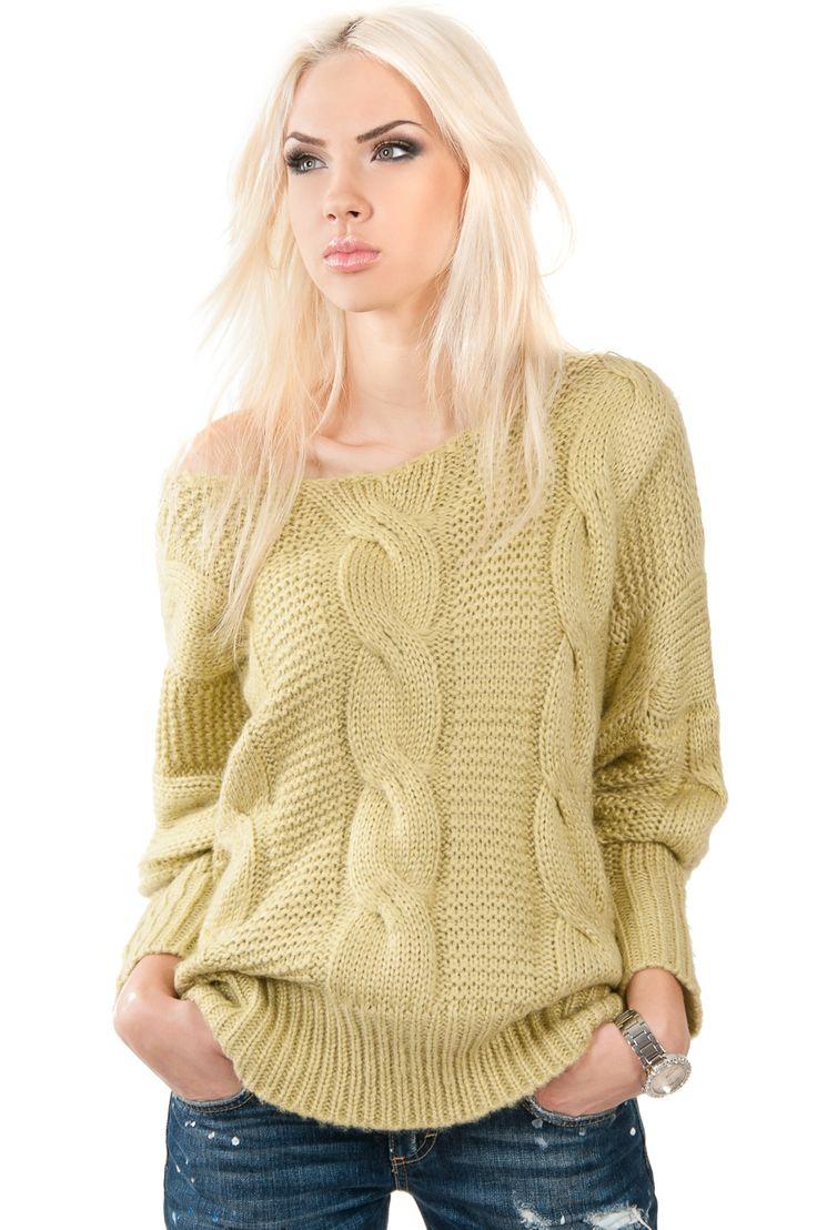 Свитер объемный с косами — Женские свитера и вязаные кофты