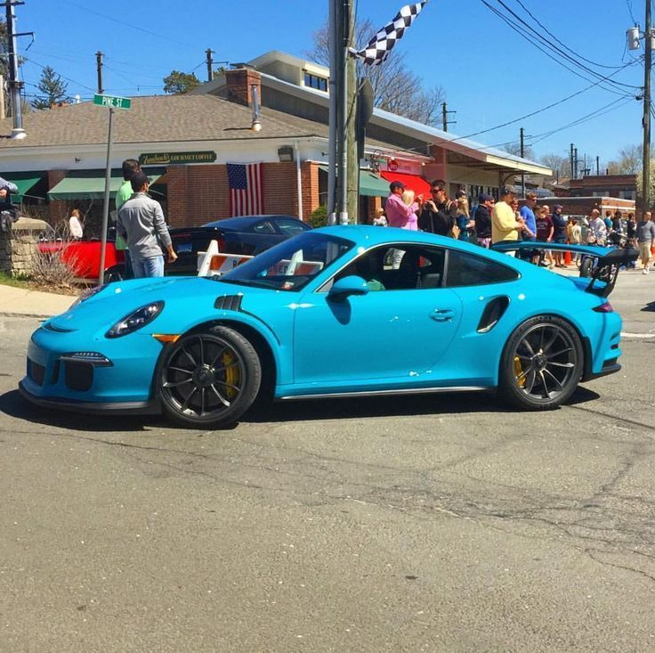 Cool Porsche: Porsche 991 GT3 RS painted in paint to sample Riviera Blue Photo taken by: @omar...  Porsche..dream car Check more at http://24car.top/2017/2017/07/21/porsche-porsche-991-gt3-rs-painted-in-paint-to-sample-riviera-blue-photo-taken-by-omar-porsche-dream-car/