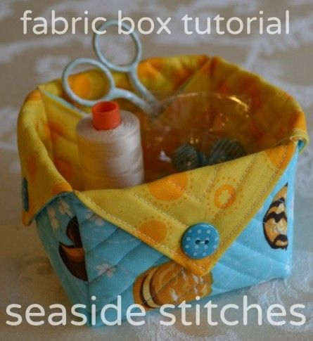Fabric Storage Box - Free Tutorial by Seaside Stitches #sewing #quilting