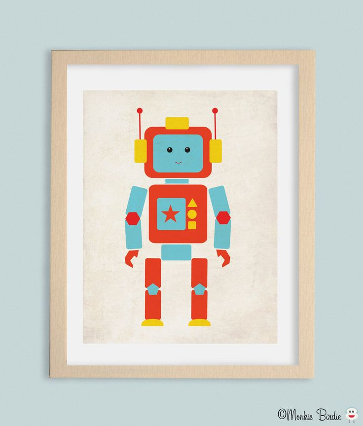 15 best Robot Nursery Decor Inspiration images on Pinterest | Robot ...