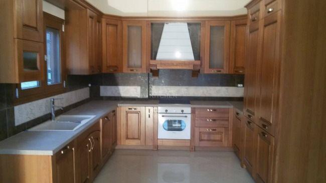 Κουζίνα Μασίφ Καστανιά Μοντέλο Olivia στην περιοχή των Καλαβρύτων Τιμή κουζίνας 7500€.