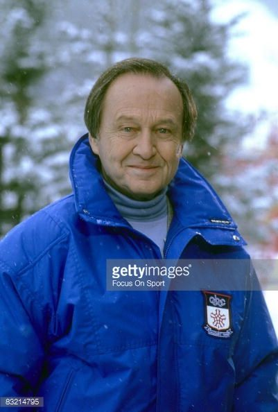 James Kenneth McManus (9/24/ 1921 – 6/07/2008), best known by his professional name Jim McKay, was an TV sports journalist. McKay is best known for hosting ABC's Wide World of Sports (1961–1998). He is also known for television coverage of 12 Olympic Games, and is universally respected for his memorable reporting on the Munich massacre at the 1972 Summer Olympics. McKay covered a variety of  events from the Kentucky Derby, British Open, and the Indianapolis 500. (Picture at 1988 Winter…