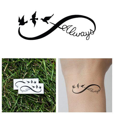 Tatuaje temporal siempre infinito juego de 2 por Tattify en Etsy