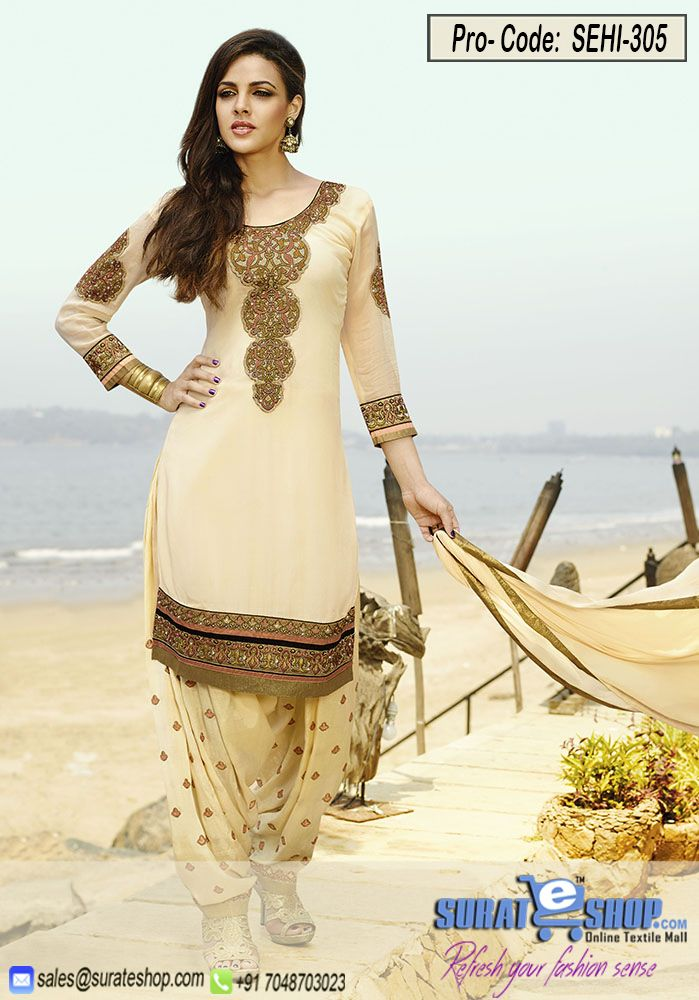 Lemon Chiffon Salwar Kameez, TOP:Fabric Georgettee Shantoon, BOTTOM with INNER:Fabric Chiffon, DUPPATTA:Fabric Chiffon   Visit: http://surateshop.com/product-details.php?cid=2_27_64&pid=11888&mid=0